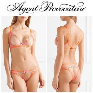 NWOT Agent Provocateur Izzy Embroidered Set